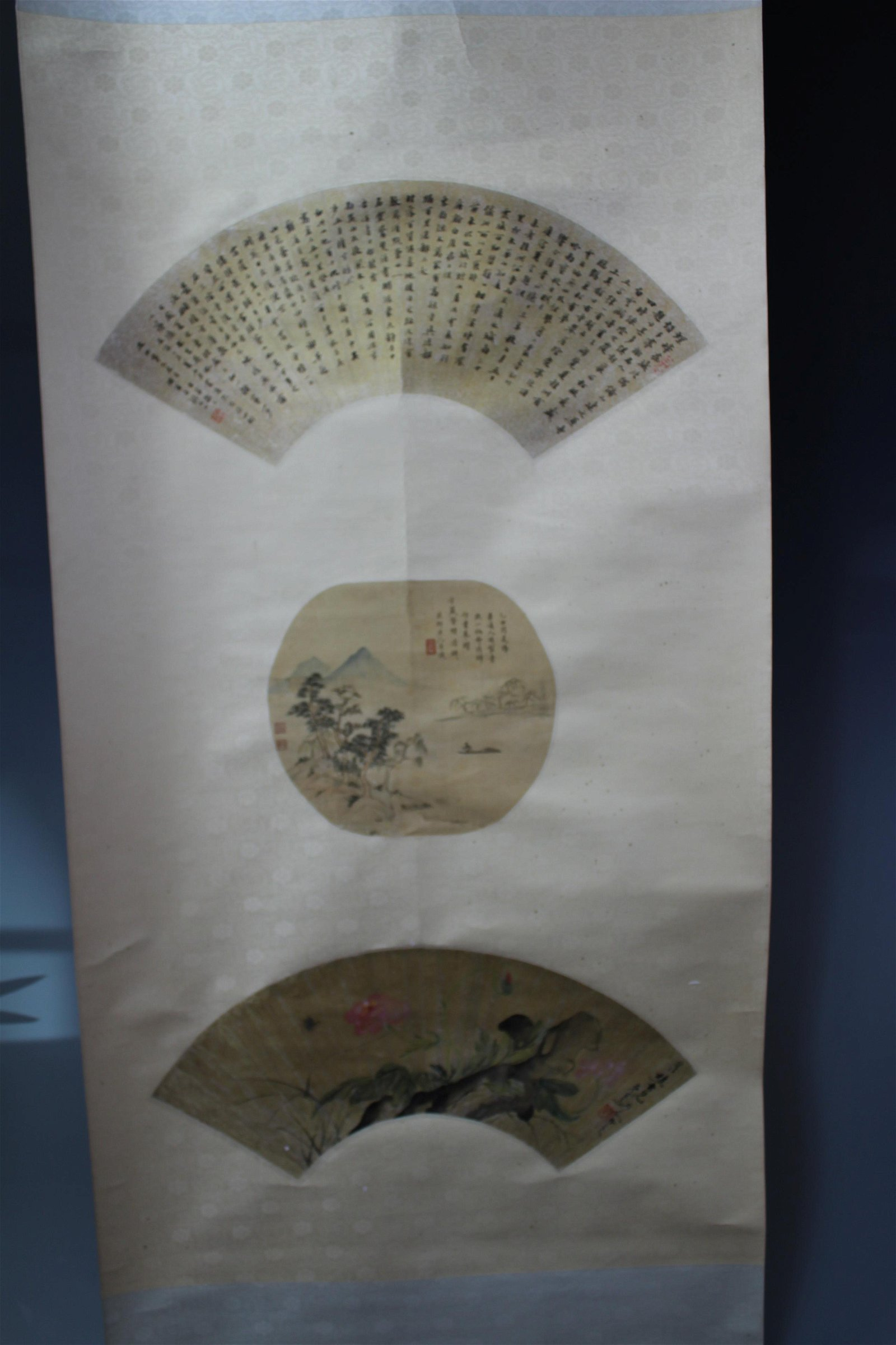 Chinese Painting And Calligraphy Of Couplets By Zhang