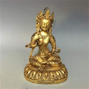 A Gilt Bronze Figure of Avalokiteshvara Padmapani,