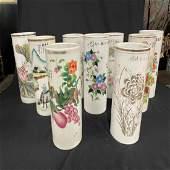 9 Pieces porcelain stand