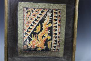 A Framed Chinese Embroidery