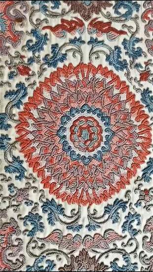 A Very Rare Imperial Large Silk Embroidery, Mid Qing