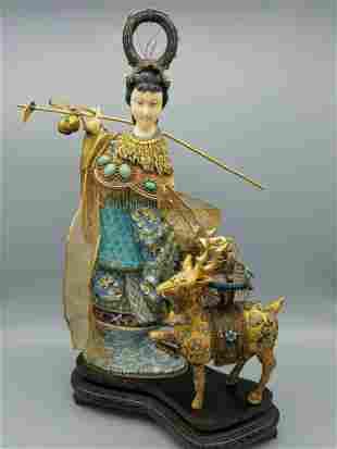 A Cloisonne Enamel Figurine