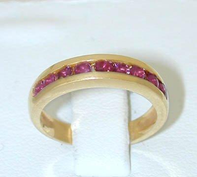 12087: 8111 14K Gold Ring w/ Ruby