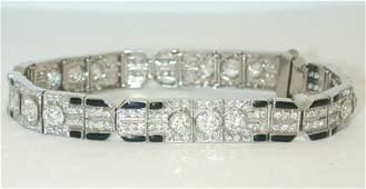 7176: 745 Platinum Diamond/Enamel Bracelet