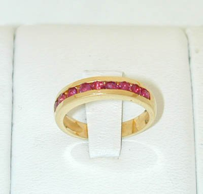 12015A: 6045 14K Gold Ring w/ Ruby