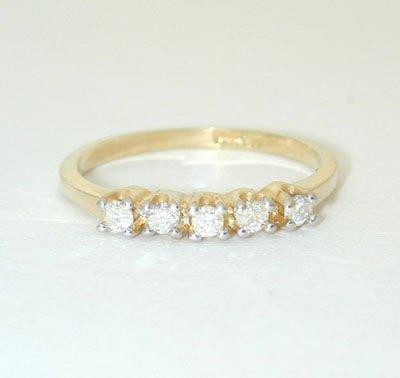 12045A: 5967 14K Gold Ring w/ Diamonds