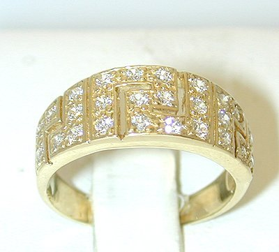 1017 14K Gold Ring w/ White Sapphire