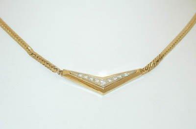 1022 14K Gold Necklace w/ Diamonds