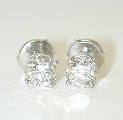 2308 BVLGARI 18KW Gold Earrings w/ Diamonds
