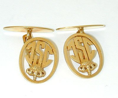 11854 18K Gold Cufflinks