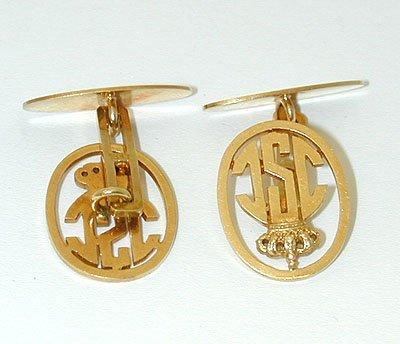 11854 18K Gold Cufflinks - 2