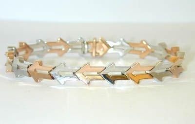 "1606 ENIGMA ""Gianni Bulgari"" 18K 2 Tone Gold Bracelet"