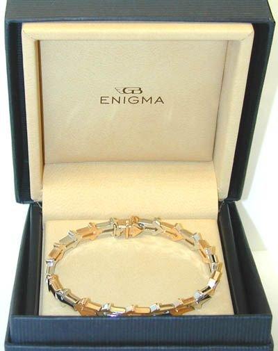 "1606 ENIGMA ""Gianni Bulgari"" 18K 2 Tone Gold Bracelet - 3"