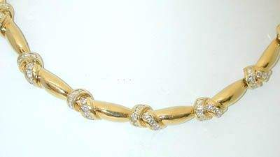 3A KRYPELL 18K  Gold Necklace w/Diamond