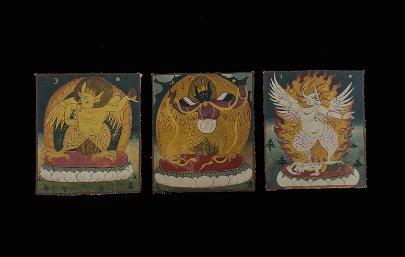 A Group of 3 Tibetan Thangka