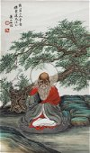 A CHINESE PAINTING SIGNED REN YU