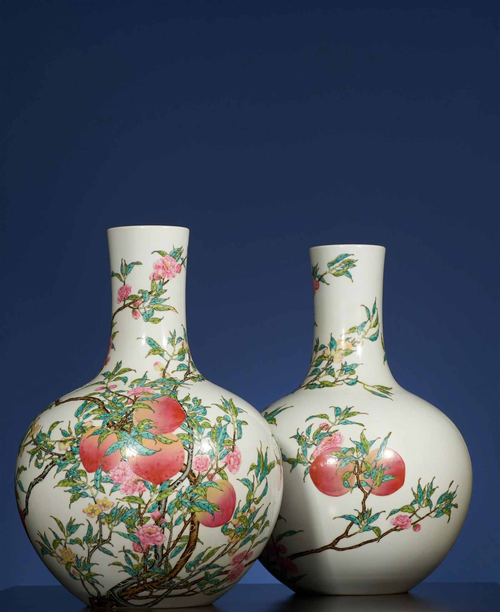 A Pair of Famille Rose Vase,