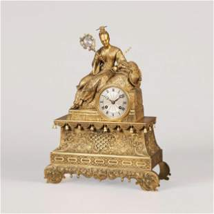 A French Mantle Clock in the Chinoiserie Taste, Circa