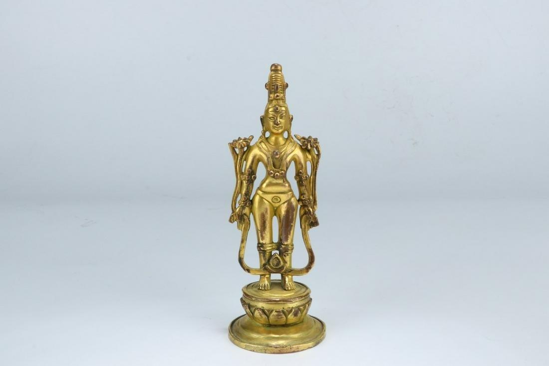 A Chinese Gilded Bronze Buddha Statue