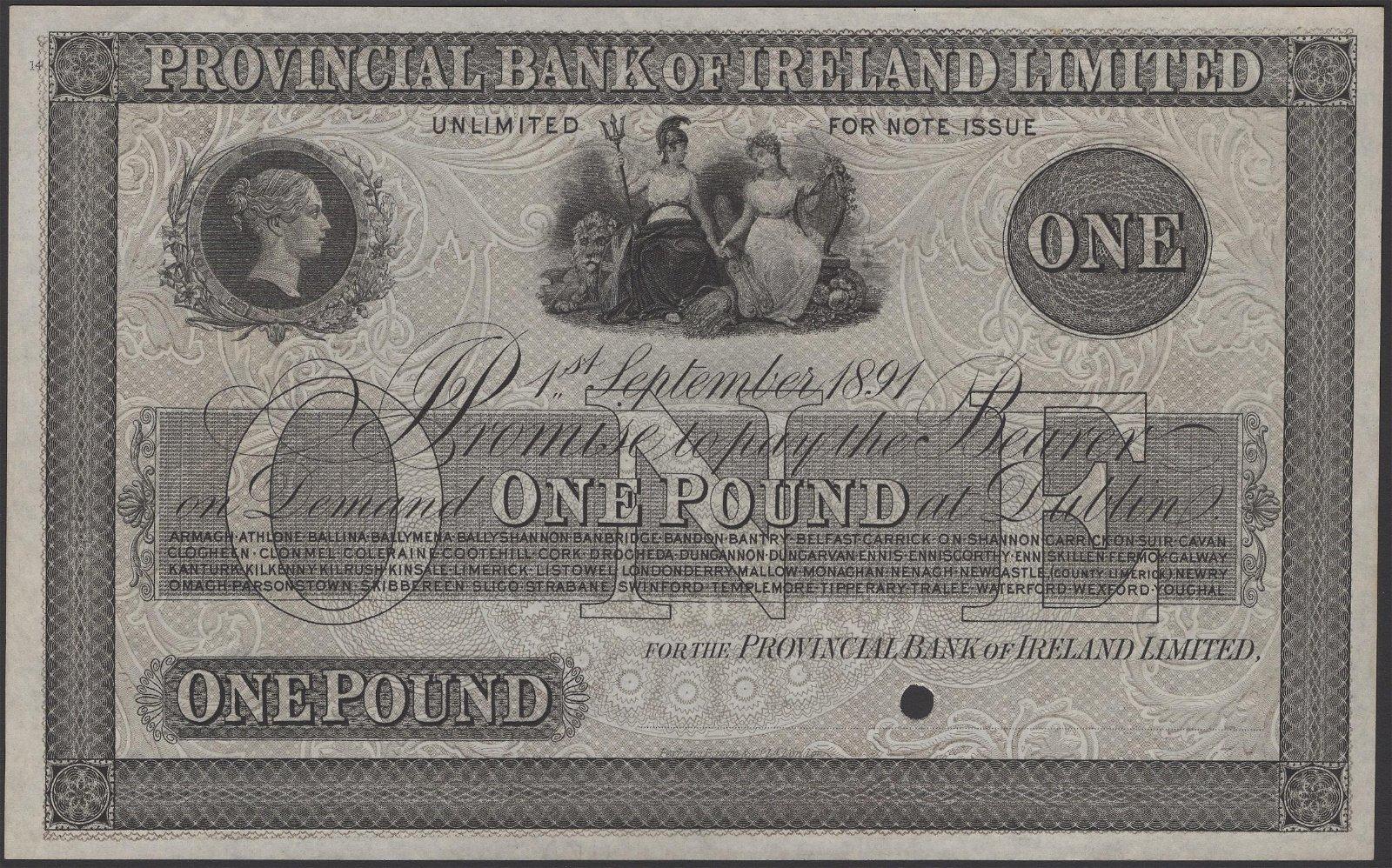 Irish Banknotes from Various Properties