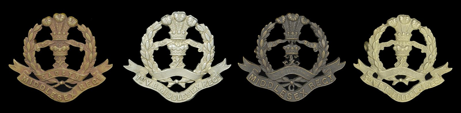 Militaria to the 57th, 77th, and Middlesex Regiments