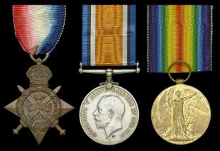 A Collection of Medals to recipients of the 1914 Star,