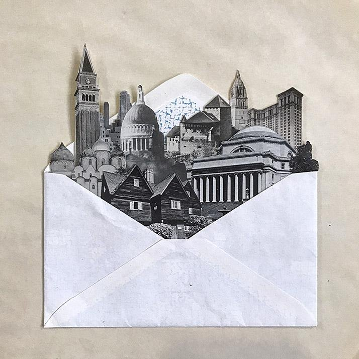 Air Mail City # 3 Collage by Morgan Jesse Lappin