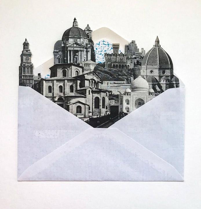 Air Mail City # 4 Collage by Morgan Jesse Lappin