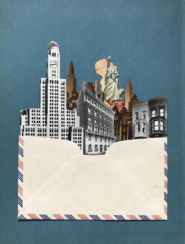 Air Mail City # 5 Collage by Morgan Jesse Lappin