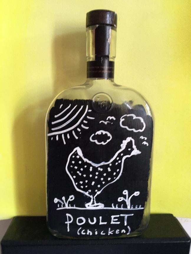 Poulet Bottle sculpture by James Prez