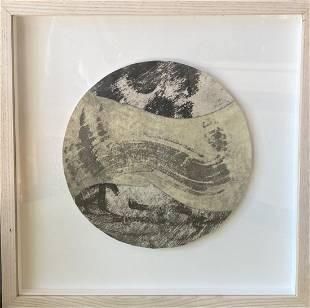 John Digby original collage framed