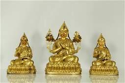 An exceptional gilt-bronze figure of Tsongkhapa