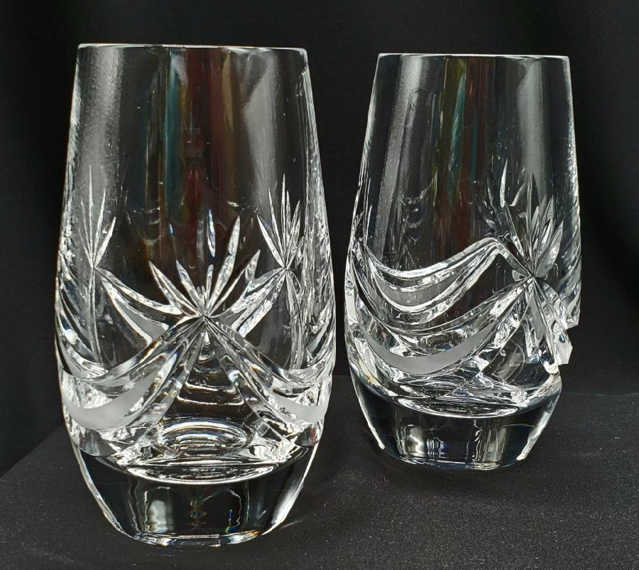 Pair of Waterford Crystal Stemless Wine Glasses