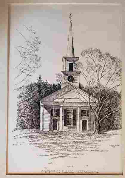 Pencil Art - Sturbridge Village Meeting House