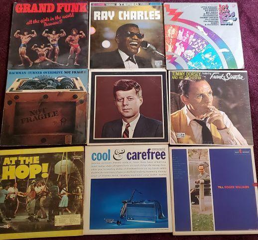 9 Vinyl Records - Ray Charles, At The Hop!