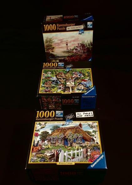 3 -Ravensburger 1000 Pieces Puzzles