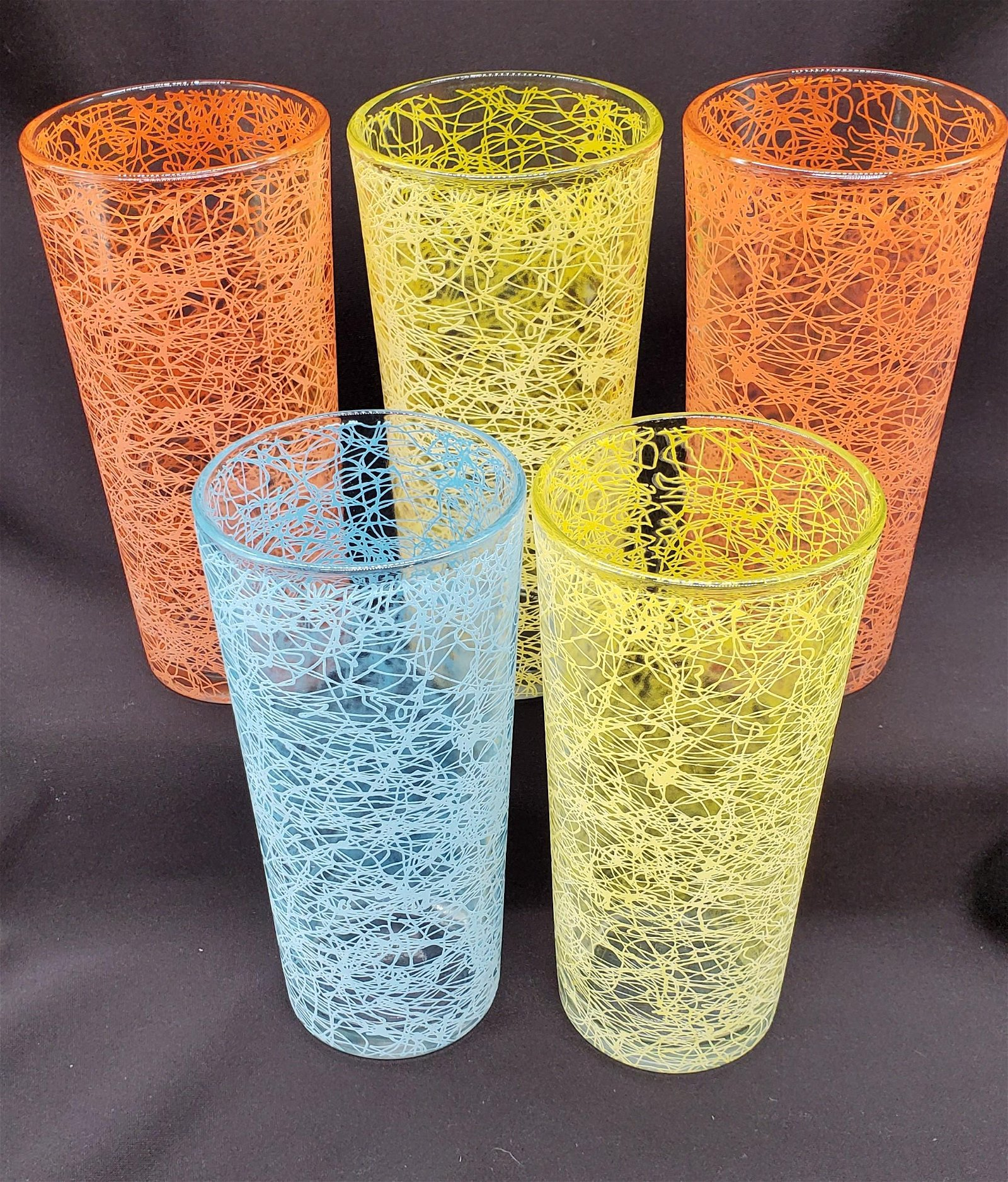 Mid Century Modern Multi-Color Atomic Glasses