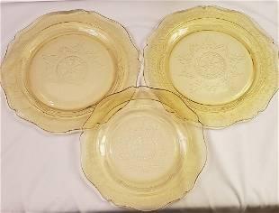 Amber Madrid Reissue Depression glass Plates