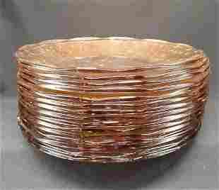 Vintage Amber Glass Dinner Plates