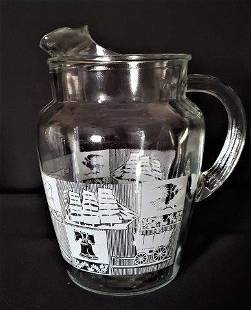 Vintage Libbey Colonial Ice Lip Pitcher