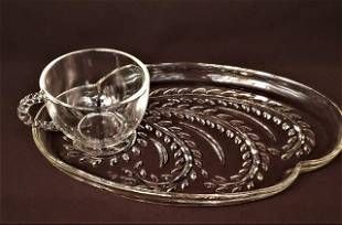 1950s Hospitality Snack Set by Federal Glass Co