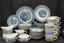 Currier and Ives by Royal Iron Stone China