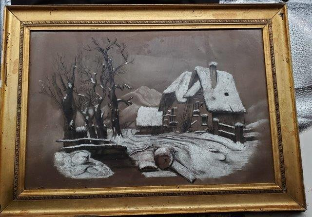Winter scene House 15x21
