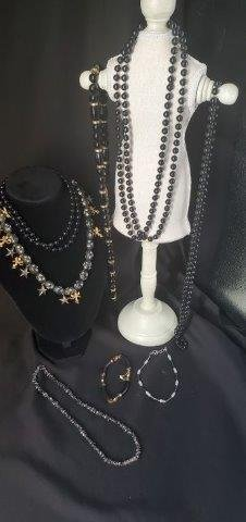 Collection of Black Gold Jewelry