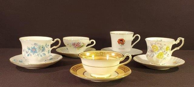 Collection of 5 Cup and Saucer Sets