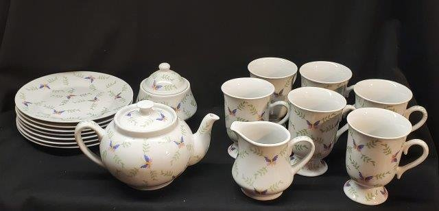 Tea Pot Set with Cups and Plates and more