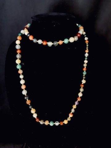 Multicolor Glass Bead Necklace