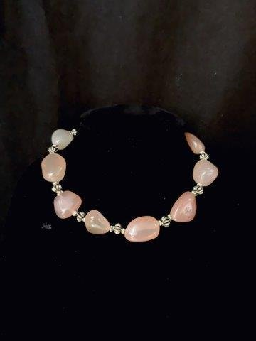 Rose Quartz Statemwent Necklace