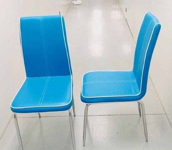 Robin Egg Blue Vintage Chairs Set of 4