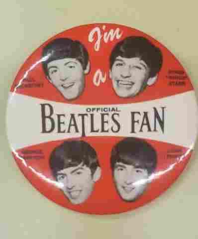 Vintage Official Beatles Fan Pin